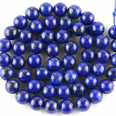 Hot Natural Blue Lapis Round Loose Stone Beads Jewelry Making 4/6/8/10/12mm