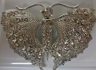 Art Deco style diamante butterfly brooch-Aussie seller Brand new in packaging