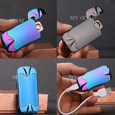 USB Electric Arc Windproof Rechargeable Pulse shake Cigarette Cigar Lighter Gift