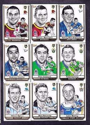 Select 2007 Champions Sketch Card Full Set