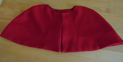 Qaimns Staff Nurse Cape Tippet Red Cape  Fully Lined Vintage Style 100% Cotton