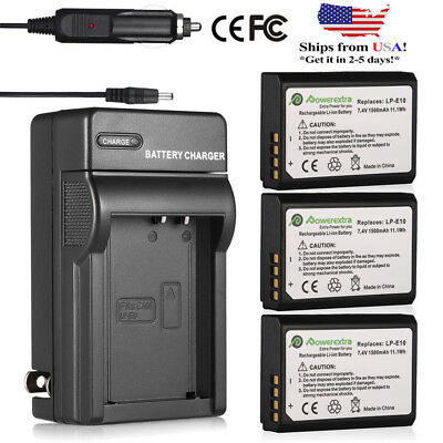 Decoded LP-E10 Battery Pack + Charger For Canon Rebel T3 T5 T6 EOS 1100D 1200D