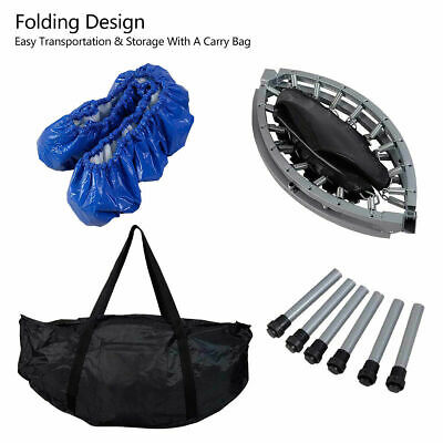 """Mini Trampoline Set 38"""" Foldable Fitness Exercise Bouncer Sports W/ Carry Bag"""
