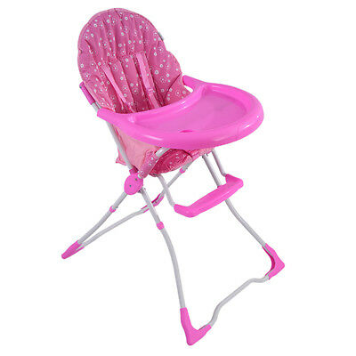 Baby Feeding High Chair Foldable Toddler Highchair Kids Dining Seat Foldable