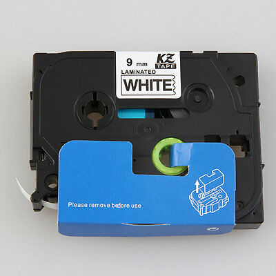 Profession 9mm Black on White Label Tape Compatible For Brother TZe-221TZ-621 NR