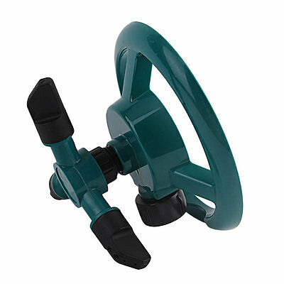 New 360° Lawn Rotating Water Sprinkler 3 Nozzle Garden Pipe Hose Irrigation NR