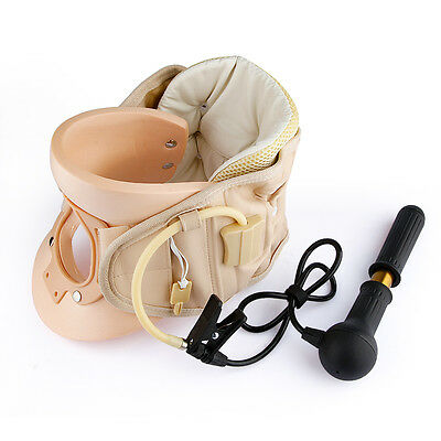 Cervical Collar Traction Neck Brace Support Strain Strap Therapy Device Massager