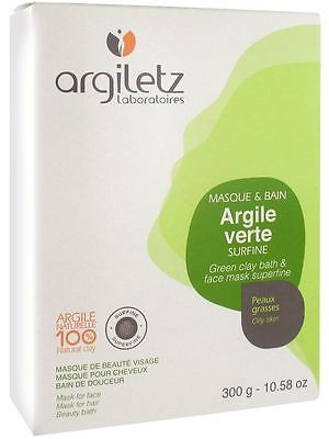 Argiletz Green Clay 300g - Superfine Powder for Face Mask Poulitices