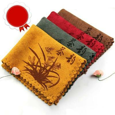 4 Color 38*28CM Tea Towel Ultrastrong Water Absorption Towel for Kungfu Set Tea