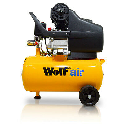Ex-Demo Wolf Air Sioux 24L 2.5HP Induction Motor 9.5CFM 116psi Air Compressor