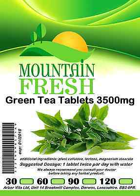 Green Tea 3500mg x 60 2 Months Supply All Natural Tablets Max Strength