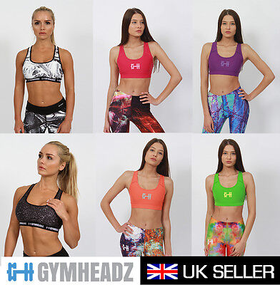 Women Support Sport Bra Running Gym Yoga Padded Fitness Tops Tank Workout Sports