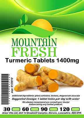 Turmeric 1400mg x 30 1 Months Supply All Natural Tablets Max Strength
