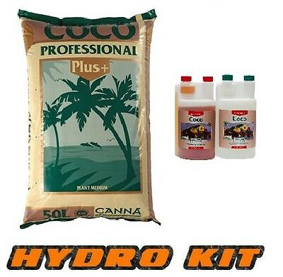 Canna Coco a b Professional 50L Hydroponics Nutrient 1L and Coco Grow Kit