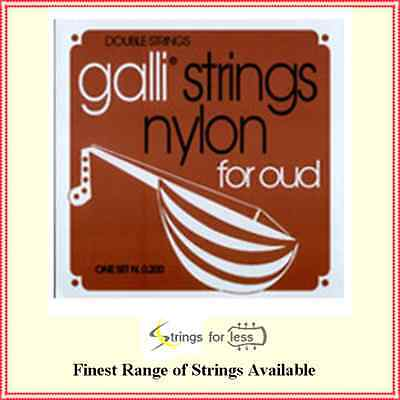 Galli Set 0200 Nylon Oud Strings 11 String Set Silverplated Wound