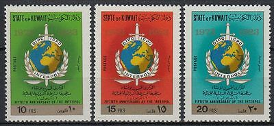 Kuwait 1973 ** Mi.563/65 Interpol Emblem