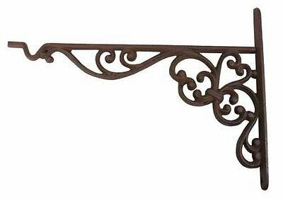 Cast Iron Decorative Bracket with Plant Hook, Hangers, Patio, Lawn and Garden