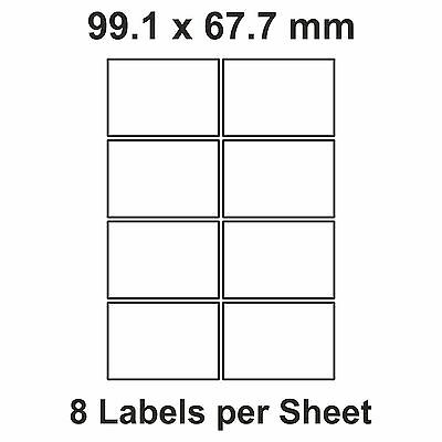 160 of 8 A4 Printer Labels, Stickers L7165 & J8165 (99.1 x 67.7) (20 sheets)