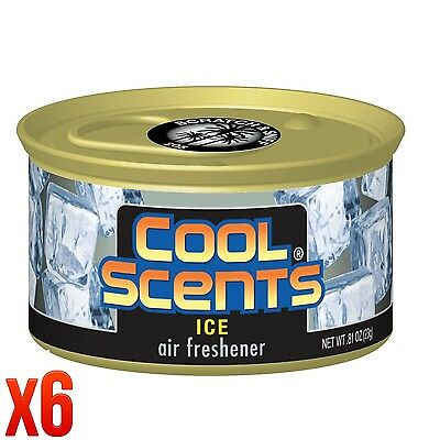 CALIFORNIA SCENTS, COOL SCENTS ICE AIR FRESHENER HOME VAN OFFICE TAXI x 6