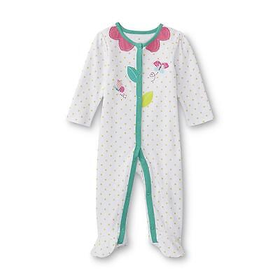 1d9a8a582ce5 NWT SMALL WONDERS Baby Girl s Footed Pajamas Flower 0-3 Months ...