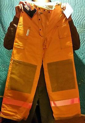 Sperian Morning Pride Firefighter turnout gear Coat SMALL 36-38+Pant 28Wx30 leg