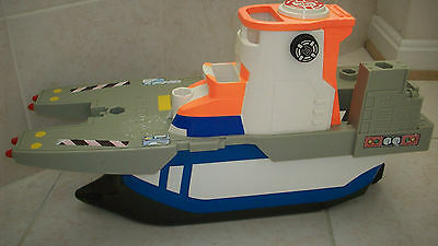 Fisher Price Rescue Heroes Micro Adventures Aircraft Carrier H5555 Ship Boat Toy