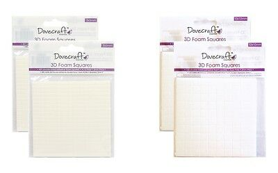 2 Pack Dovecraft Double Sided Adhesive 3D Foam Squares Pads Small 5mm/Large 10mm
