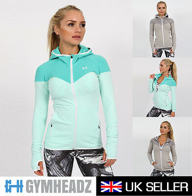 Womens Ladies Gym Fitness Running Jogging Yoga Hoodie Zip-up Jackets Sports Coat