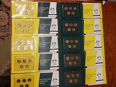 AUST 2016 OLYMPIC $2 BLUE BLACK RED YELLOW GREEN 10 different 5 coin folder set