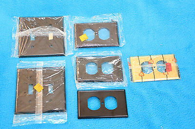 Vintage Lot Outlet Covers / Switch Plates - Leviton - Bell Electric - Bakelite ?