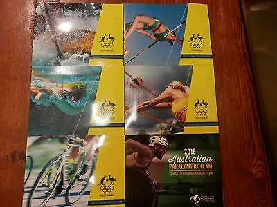 AUS 2016 OLYMPIC $2 BLUE BLACK RED YELLOW GREEN PARALYMPIC coin folder set EMPTY