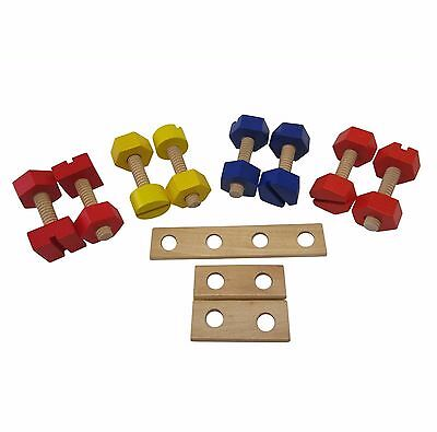 Wooden Nuts & Bolts Set Fine Motor Activity Montessori Special Needs