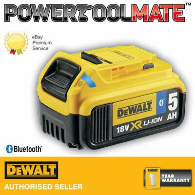 Genuine Dewalt DCB184B 18v 5Ah Bluetooth Slide Li-ion Battery Pack