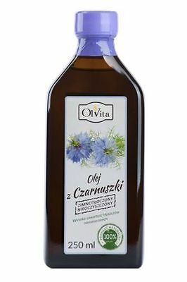 BLACK SEED OIL/Black Cumin(Nigella sativa)/cold pressed 250ml czarnuszka
