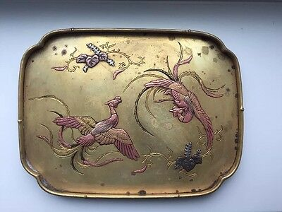 A Japanese Meiji Era Nogawa Mark Bronze And Mixed Metal Tray Late 19th Century