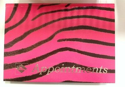 6 Column Pink Zebra Print Hairdressers  Appointment Book