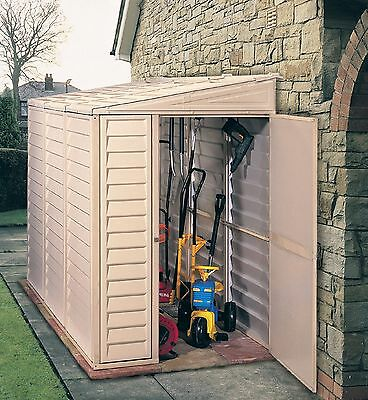 Duramax Sidemate 4ft x 8ft Plastic Shed (including Foundation Kit)