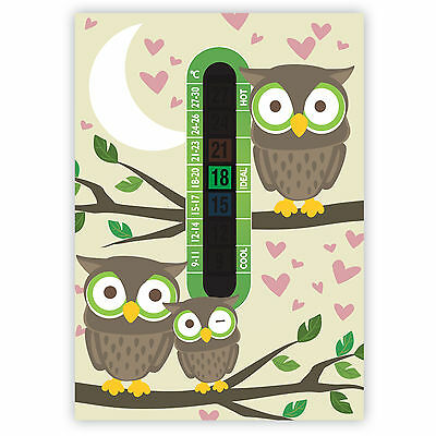 A6 Nursery and Childrens Owl Room Thermometers