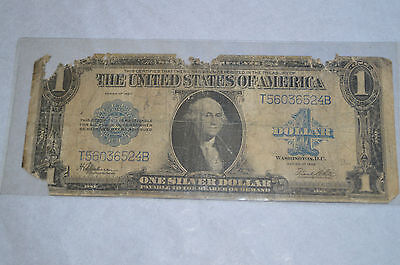 1923 One 1 Dollar Silver Certificate Blue Seal United States U.S. Currency Bill
