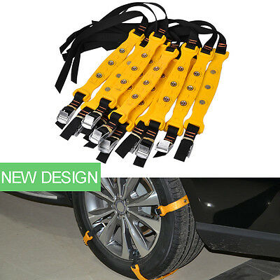 Auto Anti-skid Chains Car Skid Belt Snow Ice Mud Sand Tire Chain Clip-on Chains
