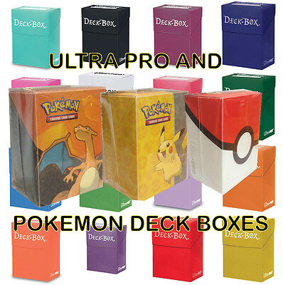 Ultra Pro Deck Box Card Storage For Yugioh!, Mtg, Pokemon Cards: Many Colours!
