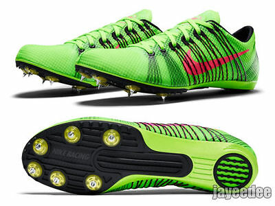 New Nike Victory 2 Track Field running Shoes 10.5 (28.5 cm) Spikes Green Racing