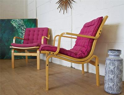 DELIVERY £65 Mid Century Retro Danish Finn Ostergaard Pair Armchairs Easy Chair