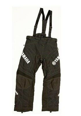 Mens Yamaha Crew Pant Snowmobile Bib by FXR SMB-15PCR-BK-MD