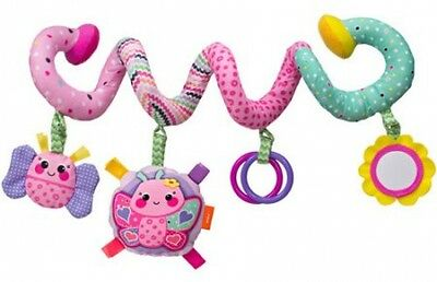 Infantino Sparkle Spiral 4 Activity Baby Infant Toy, Attaches to Car Seat New