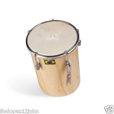 "6"" Afro Brazilian Leather kuˈikɐ Cuica Natural Wood Friction Drum Samba Music"