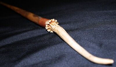 Wood Antler Copper Magic Wand ~ Penn's Psychokinetic Prestidigitator ~ 16.75""