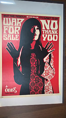 Shepard Fairey - war for sale red - Limited to 300 - signed & numbered - Obey