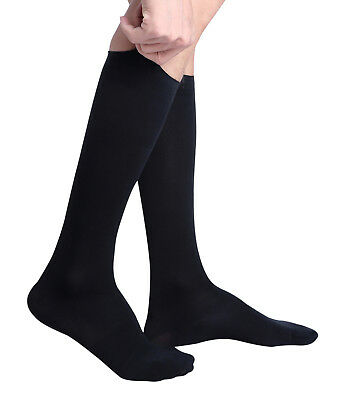 Men's Comfy Travel and Dress Compression Socks, 15-20mmHg, Knee High