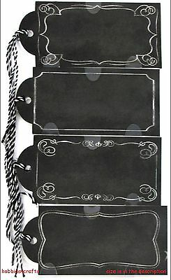 Jolee's Boutique 3-D Chalkboard Stickers - Chalk Tags With Twine